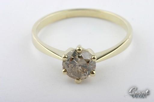 brillantring diamantring 1 ct 14kt gelbgold 585 solit r einkar ter ebay. Black Bedroom Furniture Sets. Home Design Ideas