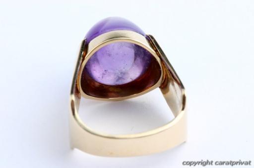 amethystring in gold ring mit amethyst damenring 585. Black Bedroom Furniture Sets. Home Design Ideas