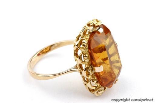 topasring in 18 kt 750 gold ring mit topas damenring goldtopas ebay. Black Bedroom Furniture Sets. Home Design Ideas