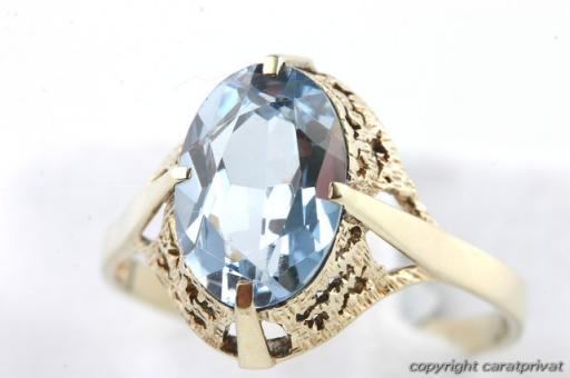 gold ring 333 8 kt gold mit blauem stein goldschmuck. Black Bedroom Furniture Sets. Home Design Ideas