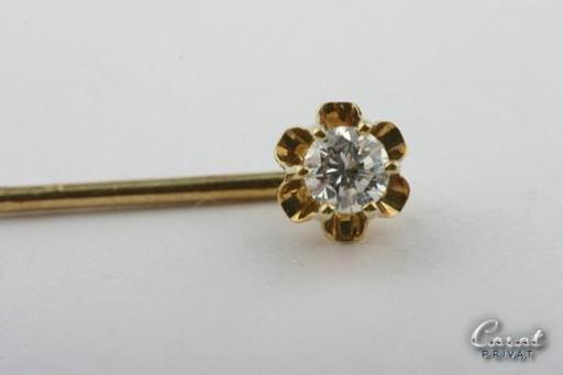 Brillantnadel-585-er-Gelbgold-Nadel-Anstecknadel-Brillant-Brilliant-Diamant