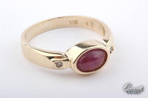 rubin ring gold rubinring in 585 gold mit rubin und brillanten diamanten ebay. Black Bedroom Furniture Sets. Home Design Ideas