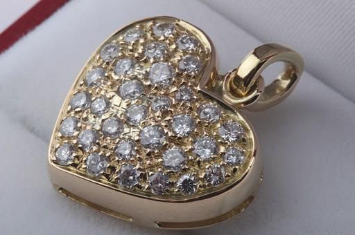 herz brillant diamant anh nger in aus 750 er gelbgold mit brilliant brillanten ebay. Black Bedroom Furniture Sets. Home Design Ideas