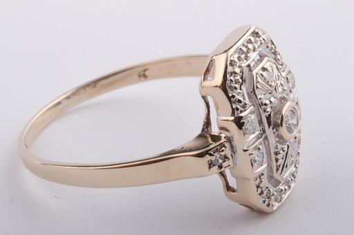 diamant brilliant ring in aus 585 er bicolor gold mit brillianten diamantringe ebay. Black Bedroom Furniture Sets. Home Design Ideas