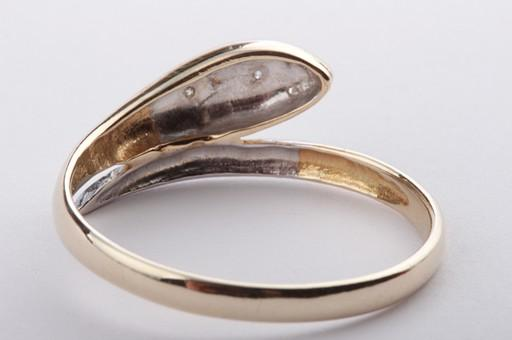 schlangenring design brillant diamant ring mit brillianten brillanten 585 gold ebay. Black Bedroom Furniture Sets. Home Design Ideas