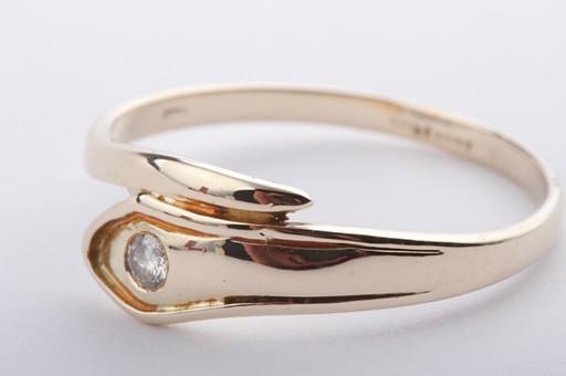 schlangenring design brillant diamant ring mit brilliant solit r 585 gelbgold ebay. Black Bedroom Furniture Sets. Home Design Ideas