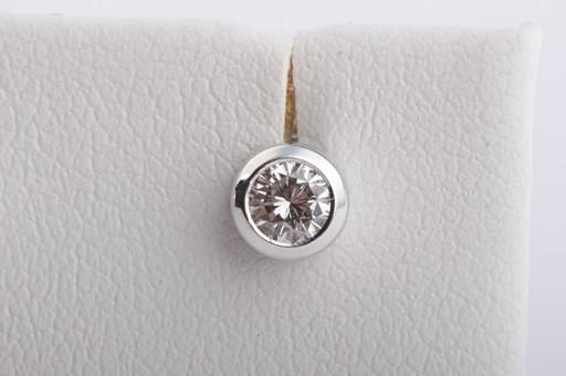 brillant diamant ohrringe ohrstecker 585er wei gold mit brillanten brillianten ebay. Black Bedroom Furniture Sets. Home Design Ideas